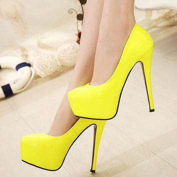 Stylish Candy Pump Stiletto Heels