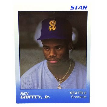 1989 STAR Cards Ken Griffey Jr ROOKIE CARD! - RARE Issue Card #1 Rare Yellow Back w/Checklist Hof