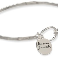 """Sterling Silver """"Sisters Are Forever Friends"""" Catch Bangle Bracelet:Amazon:Jewelry"""