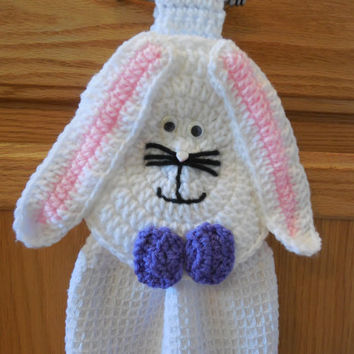 Towel Topper - Bunny - Rabbit - Crochet