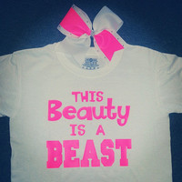 This Beauty Is A Beast Tee W/ Matching Bow