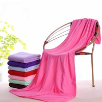 1pc Supersoft Microfiber Bath Towel Beach Towel Sports Gym Towel Fast Drying Cloth Extra Large 140x70cm 13 Colors Optional
