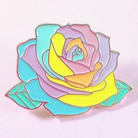 Pastel Rainbow Rose Enamel Pin