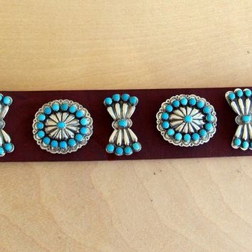 Custom Vintage Authentic Native American  Dog Collar.