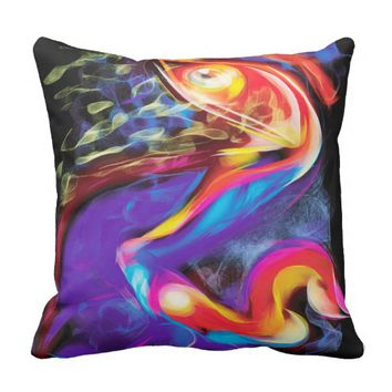 abstract face pillow