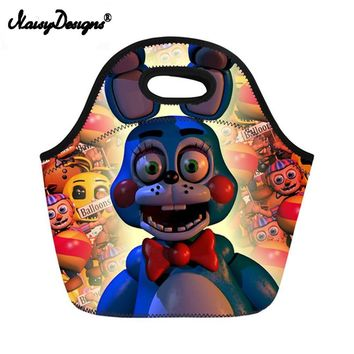 Noisydesigns  At Printing Lunch Bags for Children Kids Boys Girls Baby Bags Satchel Lunch bag Mochila Escolar