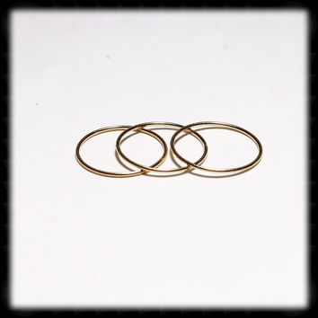 Gold Filled 1mm Stacking Ring