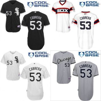 2016 new stitched baseball jersey Chicago White Sox 53 Melky Cabrera Baseball Jersey,Embroidery Logos,Can Mix Order S-4XL