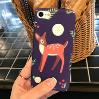 Original Deer Moon Case for iPhone 7 7Plus & iPhone6 6 Plus Best Protection Cover -0322