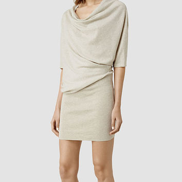 Womens Tilda Sweater Dress (Mist Marl) | ALLSAINTS.com