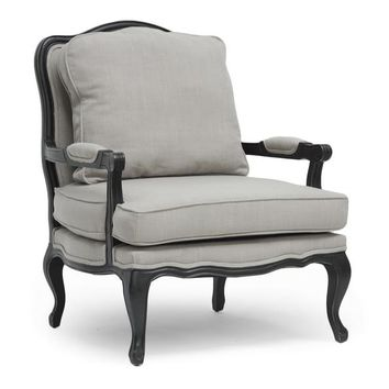 Baxton Studio Antoinette Classic Antiqued French Accent Chair Set of 1