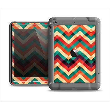 The Abstract Colorful Chevron Apple iPad Mini LifeProof Fre Case Skin Set