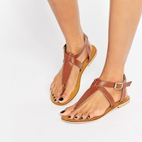 Warehouse Toe Post Flat Sandals at asos.com
