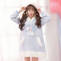Kawaii Winter Warm Snowman Printed Sweater Dress SD01751