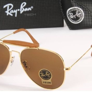 Pre-Owned Men's Ray-Ban Brown Aviator Sunglasses Women Unisex Wear (RB3422Q)