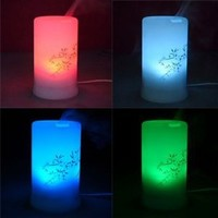 Ultrasonic Aroma Diffuser w/ 4-level Time Settings and 6 LED Lights