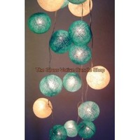 Blue Moons Cotton Ball Fairy Light String: Amazon.co.uk: Kitchen  Home: Storm