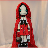 OOAK Little Red Riding Hood Inspired Hand Stitched by TatteredRags