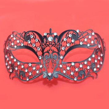 Sexy Metal Venetian Masks Rhinestone Party Mardi Gras Mask Princess Venetian Masquerade Mask