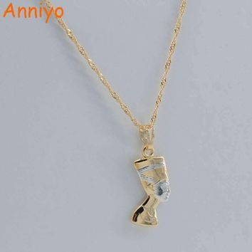 Ancient Egyptian Queen Necklace Pendant Gold Color/Silver  5.00% Off Auto renew