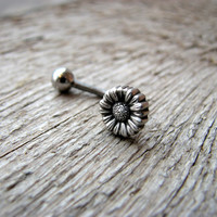 Daisy flower jewelry belly button ring