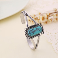 Twilight Saga Bangle Bella Turquoise Antique Silver Vintage Retro Bracelet