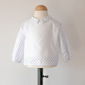 Baby blouse PDF Pattern mod. Little Joy newborn up to 3 years INSTANT DOWNLOAD , peter pan collar blouse, Baby & Toddler Blouse Pattern