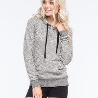 Full Tilt Essential Marled Womens Pullover Hoodie Gray  In Sizes