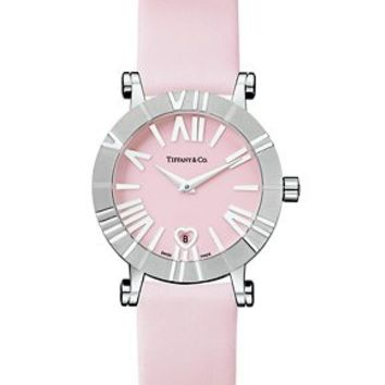 Tiffany & Co. -  Atlas® watch in stainless steel with satin-finish strap, quartz movement.