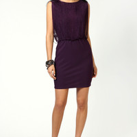Eve Tassle Top Ponte Bodycon Dress