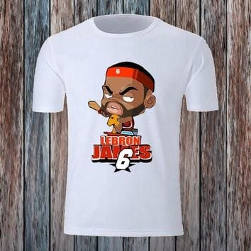 cartoon basketball players fitness t shirt  number 4