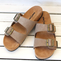 Minnetonka: Gypsy Slide On Sandals {Taupe}