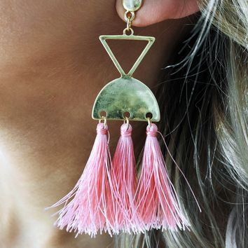 Another Chance Earrings: Pink/Gold