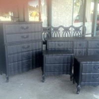 Vintage French Provincial Bedroom Set by Bassett