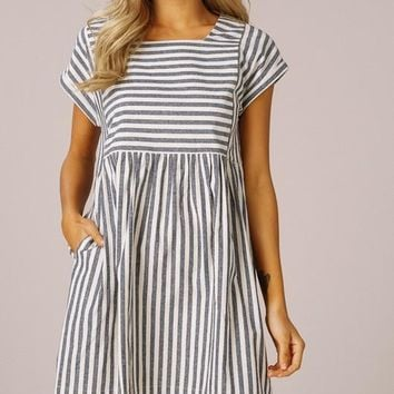 Striped Babydoll Dress (multiple colors available)