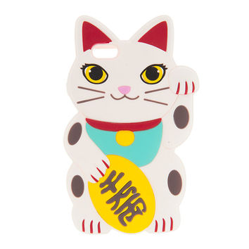 Waving Kitty Silicone Case for iPhone 6