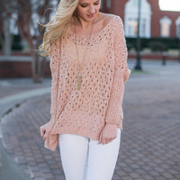Love Is Blind Sweater, Rose Quartz