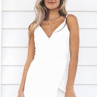 Malibu Dreams White Romper