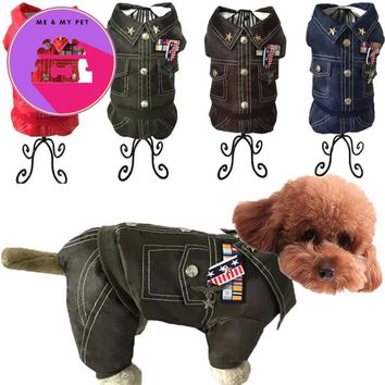 Waterproof  Army Thick Dog Clothes For Small Dogs