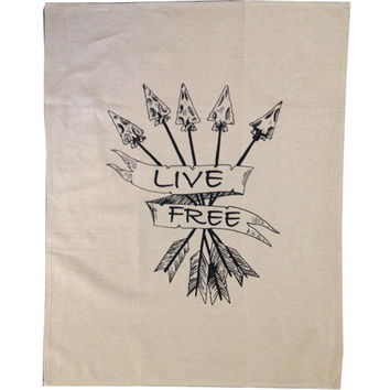 Live Free Tea Towel