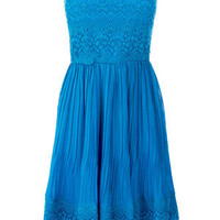 Oasis Shop | Mid Blue Peppy Dress | Womens Fashion Clothing | Oasis Stores UK