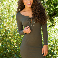 Shop Priceless Amie Dress - Olive