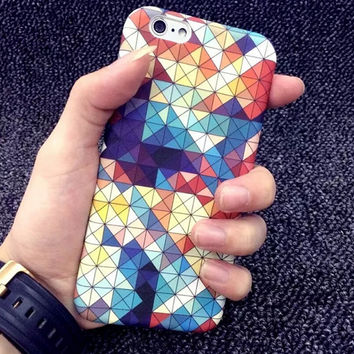Unique Geometric Print iPhone 5/5S/6/6S/6 Plus/6S Plus Case Gift Very Light Case-31
