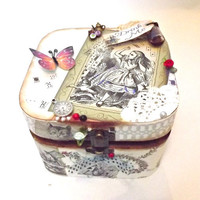 Personalized Alice in Wonderland Trinket Box Jewellery Box