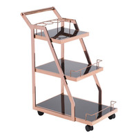 Acropolis Serving / Drink Cart Rose Gold Stainless Steel