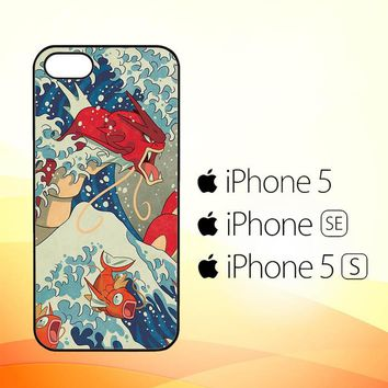 Pokemon Great Waves Painting X4140  iPhone 5 5S SE Case