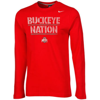 Ohio State Buckeyes Nike Youth Game Day Thermal Long Sleeve T-Shirt – Scarlet - http://www.shareasale.com/m-pr.cfm?merchantID=7124&userID=1042934&productID=544540866 / Ohio State Buckeyes