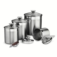 Tramontina Gourmet 8-pc. Stainless Steel Kitchen Canister Set (Silver)
