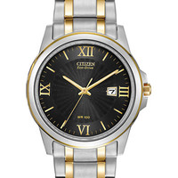 Citizen Mens Eco-Drive Two-Tone Watch