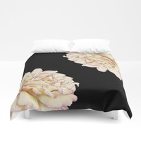 Roses - Lights the Dark Duvet Cover by drawingsbylam